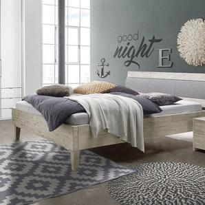 Bett Armevia, Akazie braun, 140x200 cm, Fußhöhe 20 cm