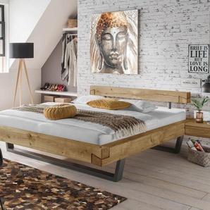 Modernes Balkenbett in Schwebeoptik in 180x200 cm - Arsos