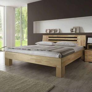 Bett aus Kernbuche Massivholz natur geölt