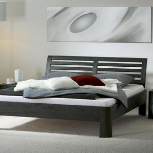 Bett Barcelona, Eiche graphit, 180x220 cm, Fußhöhe 20 cm