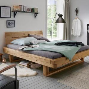 Balkenbett 140x200 cm aus Fichtenholz bis 200 kg - Basiliano