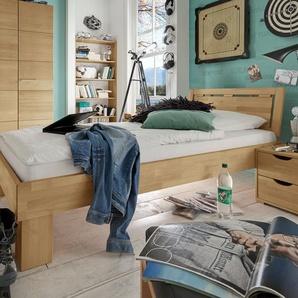 Robustes Bett aus Buche biologisch geölt 100x200 cm - Birmingham