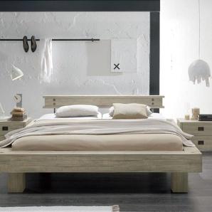 Bett Buena, Akazie grau, 160x200 cm, Fußhöhe 20 cm