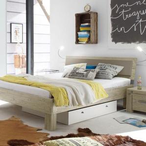 Modernes Bett Caldera - 140x210 cm - Akazie weiß