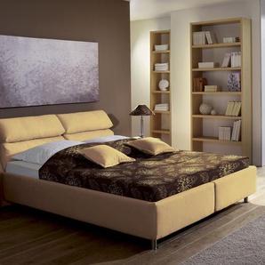 Polsterbett mit Bettkasten - 100x190 cm - grün - Stoffbett Catania