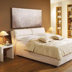 Polsterbett mit Bettkasten - 100x200 cm - orange - Bett Cremona