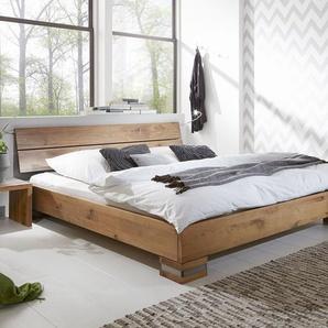 Massivholzbett 200x200 cm, Wildeiche weiß, weitere Farben & Größen bei BETTEN.de