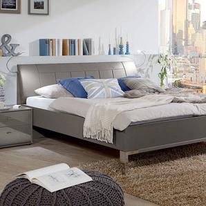Havannafarbenes Komfortbett mit 43 cm Höhe in 140x200 cm - Dilly