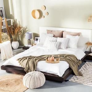 Bett dunkelbraun Lattenrost 180 x 200 cm ZEN