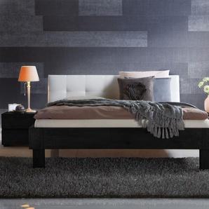 Massivholzbett 200x200 cm, Eiche cognac, weitere Farben & Größen bei BETTEN.de
