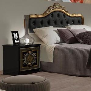 Bett , schwarz, 180x200cm Höhe Bettseite: 25cm, FSC-Zertifikat, »ALICE«, , , Hochglanz,