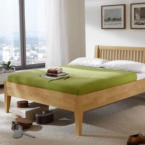 Biologisch geöltes Bett in Komforthöhe 140x190 cm - Glarus Komfort