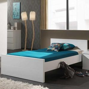 Bett in Weiß modern
