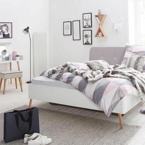 Bett »Kolding«, weiß, 140x200cm, Rauch