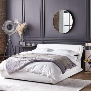 Bett Kunstleder weiss mit Bettkasten 180 x 200 cm AVIGNON
