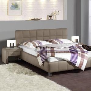 Einfaches Kunstlederbett Las Lomas - 100x200 cm - weiß