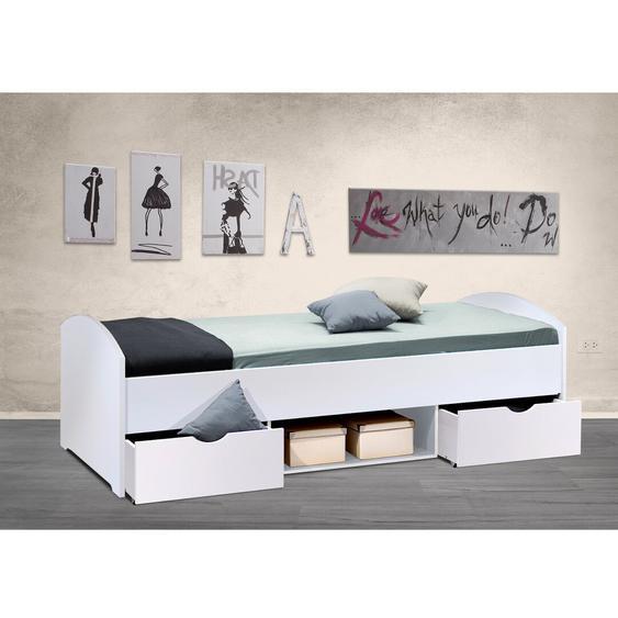 Bett Laurel Hill mit Schubladen, 90 x 200 cm