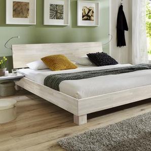 Futonbett Lesina - 180x200 cm - Buche weiß