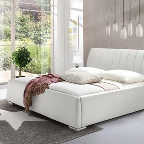 Modernes Kunstlederbett Lewdown - 200x200 cm - weiß