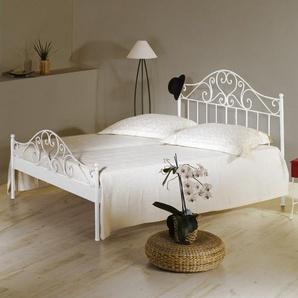 Bett Loria, weiß, 90x200 cm, ohne Fußteil – Bettrahmenhöhe  43  cm