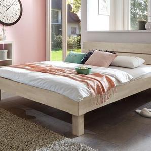 Massivholzbett 90x200 cm, Buche weiß, weitere Farben & Größen bei BETTEN.de