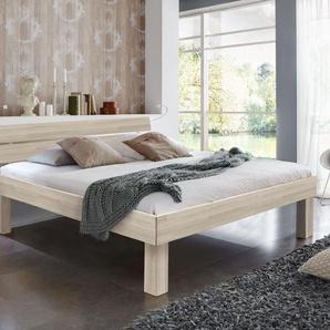 Seniorenbett 120x220 cm Buche weiß - Madrid Komfort