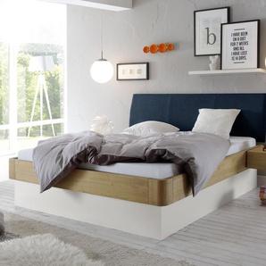 Bett Majuro, Eiche hell, 90x200 cm, mit Lattenrost seitlich zu öffnen