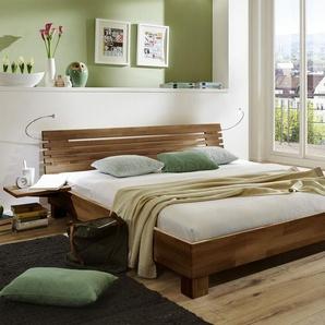 Doppelbett aus Holz Marmore - 140x220 cm - Buche nussbaumfarben