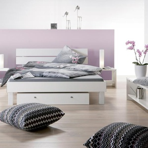 Designer Dekorbett Pesaro - 100x210 cm - weiß