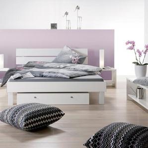 Bett Pesaro, weiß, 90x200 cm, Fußhöhe 20 cm