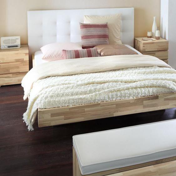 Bett Portland, Kernesche natur, 200x220 cm