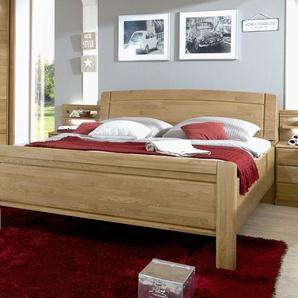 Landhausstil-Bett in 180x190 cm mit Stauraum-Kopfteil - Bett Quebo