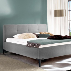 Bett Raritan, grau, 140x200 cm, mit Bettkasten & Lattenrost
