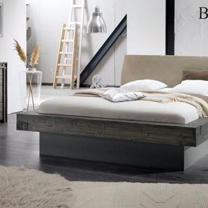 Bett Romero, Akazie grau, 140x200 cm, ohne Lattenrost