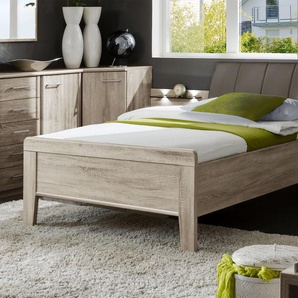 Bett in Komforthöhe - 100x200 cm - Eiche natur - Seniorenbett Runcorn