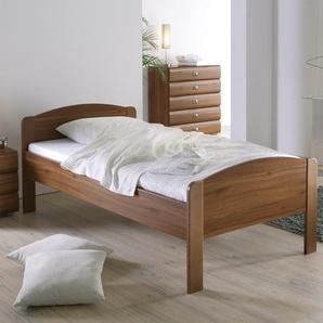 Seniorenbett - 90x190 cm - Nussbaum - Bett für Senioren San Martino