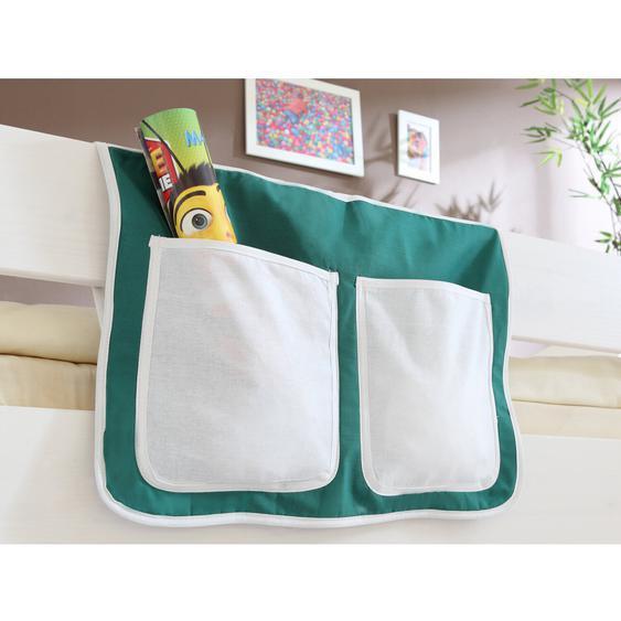 Bett-Tasche für Hoch- und Etagenbetten Dunkelgrün-Weiß Goal