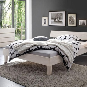Bett Teramo, Buche weiß, 140x200 cm, Fußhöhe 20 cm
