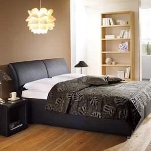 Polsterbett mit Bettkasten Trapani - 180x200 cm - grau