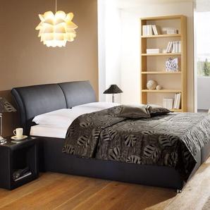 Polsterbett mit Bettkasten Trapani - 120x190 cm - schwarz