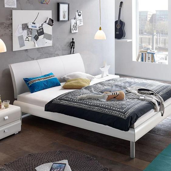 Bett Trentino, weiß, 140x200 cm, Fußhöhe 20 cm