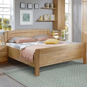 Landhaus-Doppelbett in Erle natur, Größe 180x210 cm - Trikomo