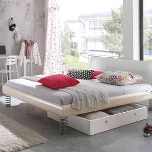 Cooles Bett mit Sprungfedern 180x220 cm Dekor Buche natur - Wereda
