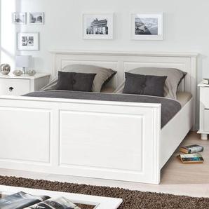 Holzbett aus weiß lackierter Kiefer im Landhausstil 90x200 cm - Wien