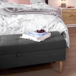 Bettbank - braun - Massivholz -