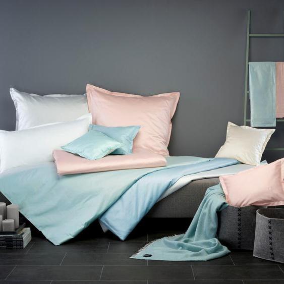 Bettbezug Uni CB1882 (1 Stck.) 1x 240x220 cm, Mako-Brokat-Satin weiß Bettwäsche Bettlaken Bettbezüge