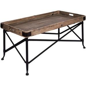 Better & Best Tisch Tablett rechteckig, Holz, mit Füßen, klein, Schwarz, 51x 33x 62cm