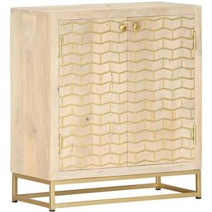 Betterlife - Sideboard Golden 60 x 30 x 70 cm Mango-Massivholz