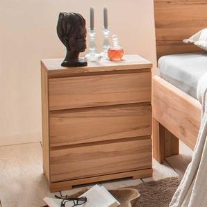 Bettkommode aus Kernbuche Massivholz 50 cm breit