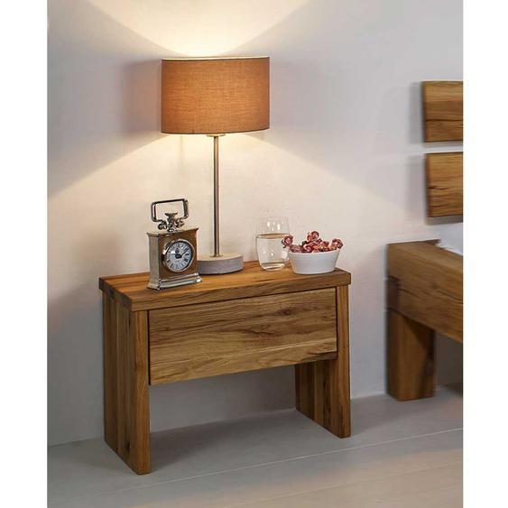 Bettkommode aus Wildeiche Massivholz 50 cm breit